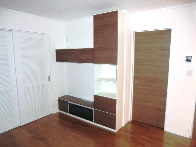 2階テレビ台収納