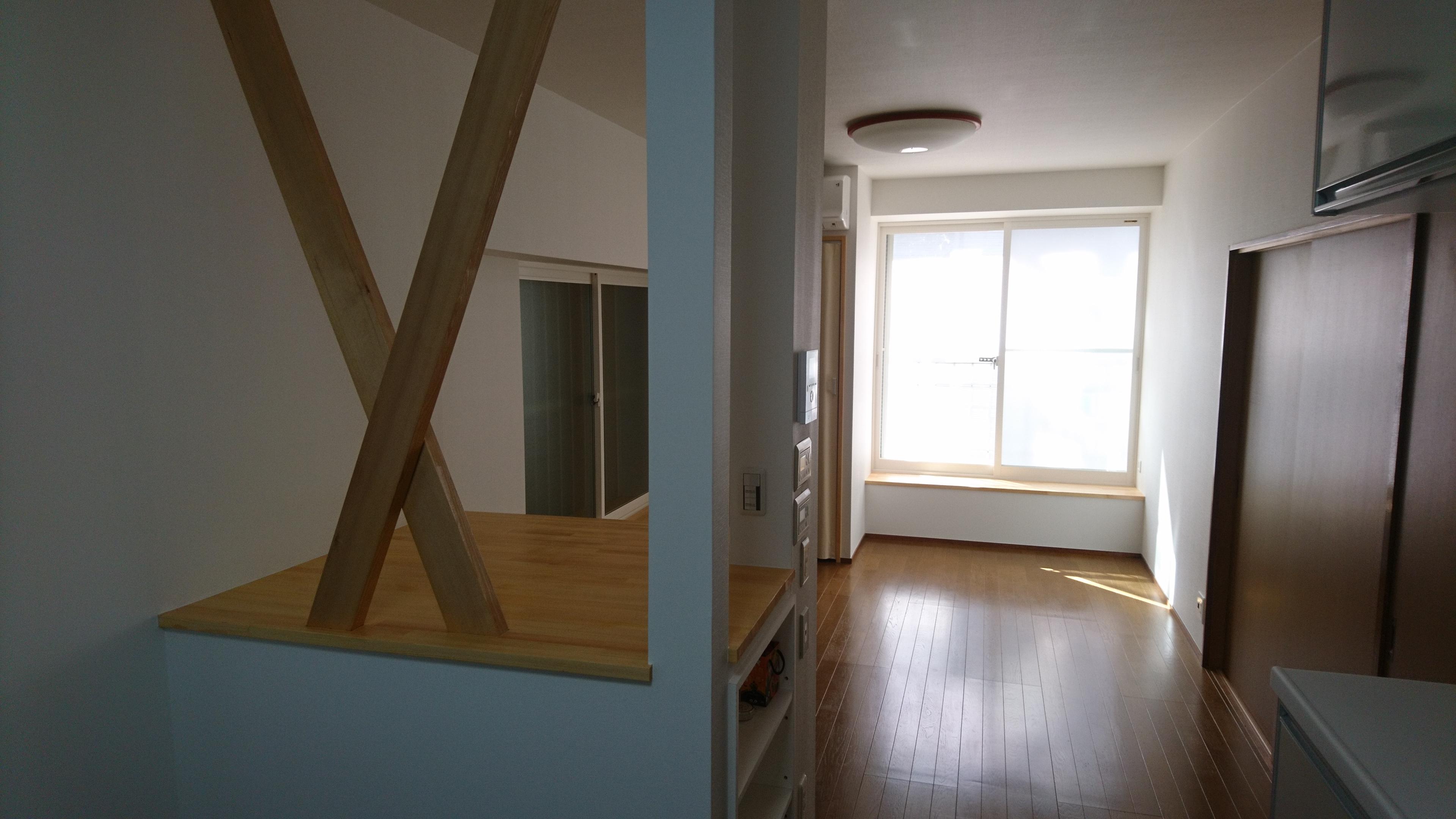 施工後 押入れ壁がなくなり広々とした空間に♪